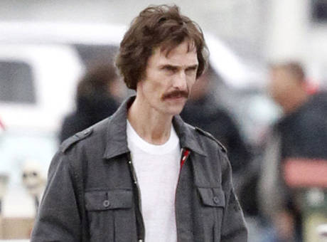 McConaughey as AIDS victim Ron Woodroof in Dallas Boys Club