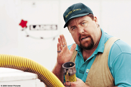 The proper use of sanitation equipment, as explained by Kenny (Shane Jacobson).